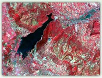 Thematic Mapper satellite image of Thailand reservoir